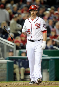 LaRoche bat toss