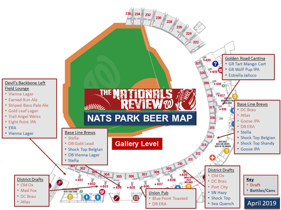 The Nationals Park Beer Guide | The Nationals Review on utah map, nps map, the outback map, arizona map, us national map, yosemite map, shavano park tx map, europe map, the national map, canadian national map, roads map, trail map, national state map, adventure travel map, the forest map, national trust map, long beach island new jersey map, amusement map, history map,